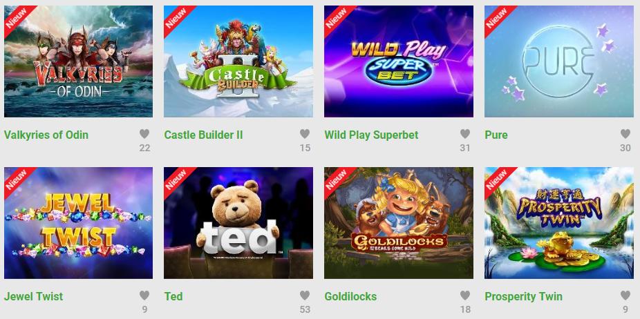nieuwe slot en dice spellen op unibet casino