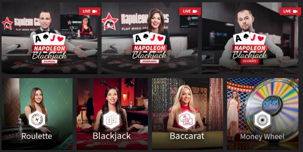 live casino bij napoleon games
