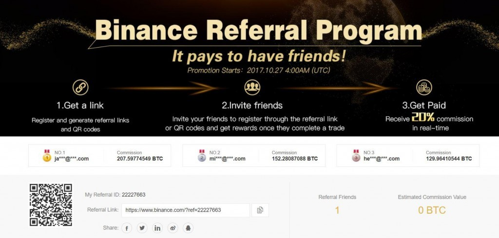 binance friend bonus